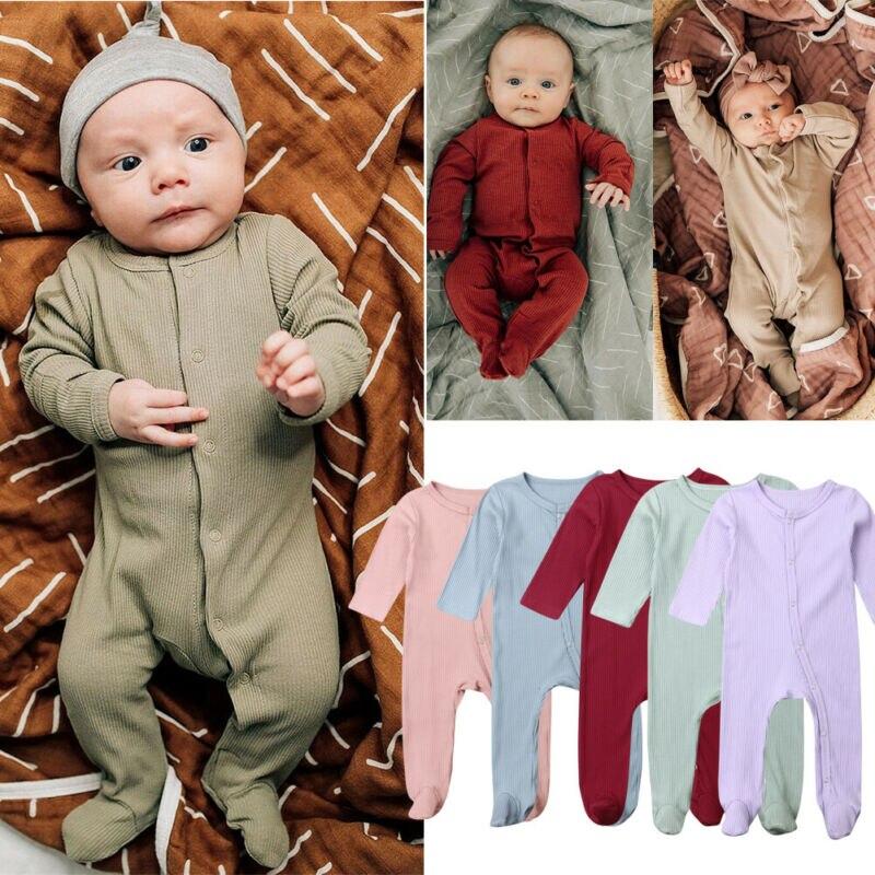 Newborn Infant Baby Boy Girl Top Romper Bodysuit Jumpsuit Outfit Clothes Sunsuit Footies