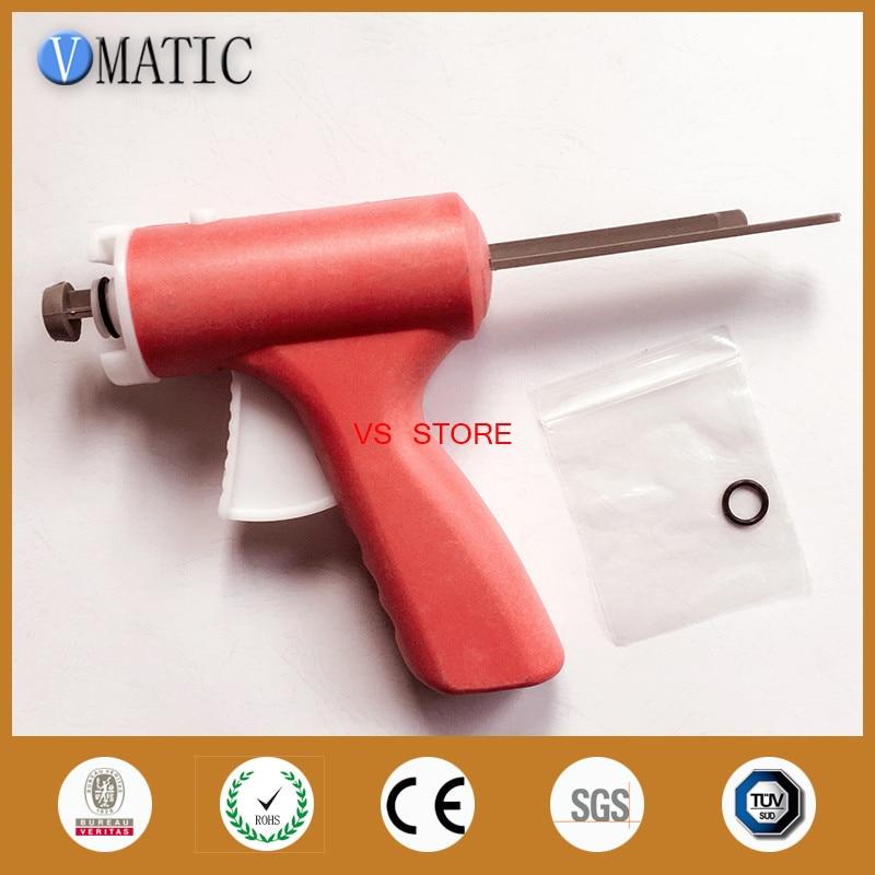Купить с кэшбэком Free Shipping High Quality 30cc ml Manually Single Liquid Glue Syringe Caulking Gun