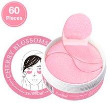 Mascarilla de colágeno rosa de cristal, parches para ojos, ojo rosa, cuidado de la cara, antiojeras, máscara de Gel hidratante antiedad