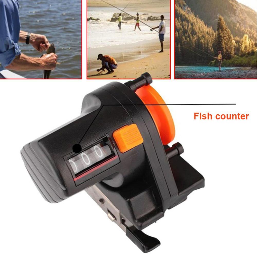 Hot Sales 0-999M Fishing Line Counter Fish Finder Length Gauge Depth Tackle Tool Pesca 40P
