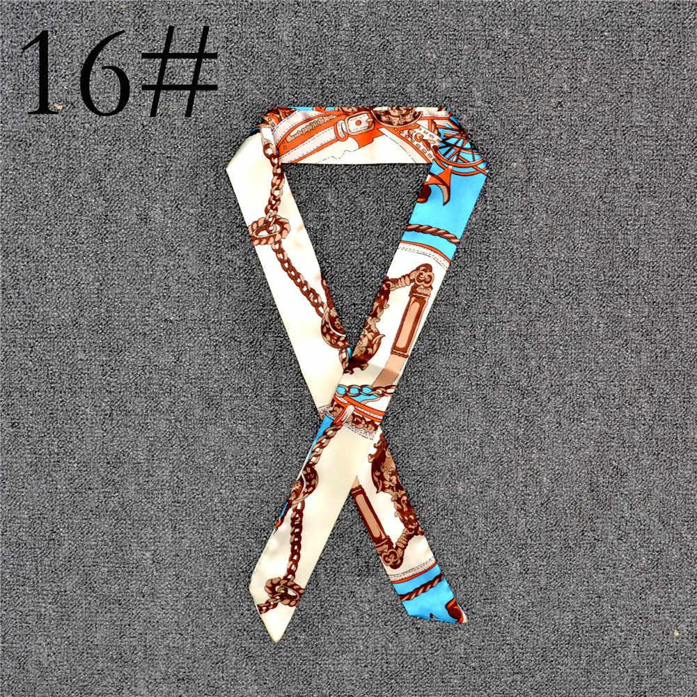 新シルク小さな女性ファッションスカーフヘアバンドバッグハンドル装飾ネクタイ多機能ハンドリボンスカーフ多機能