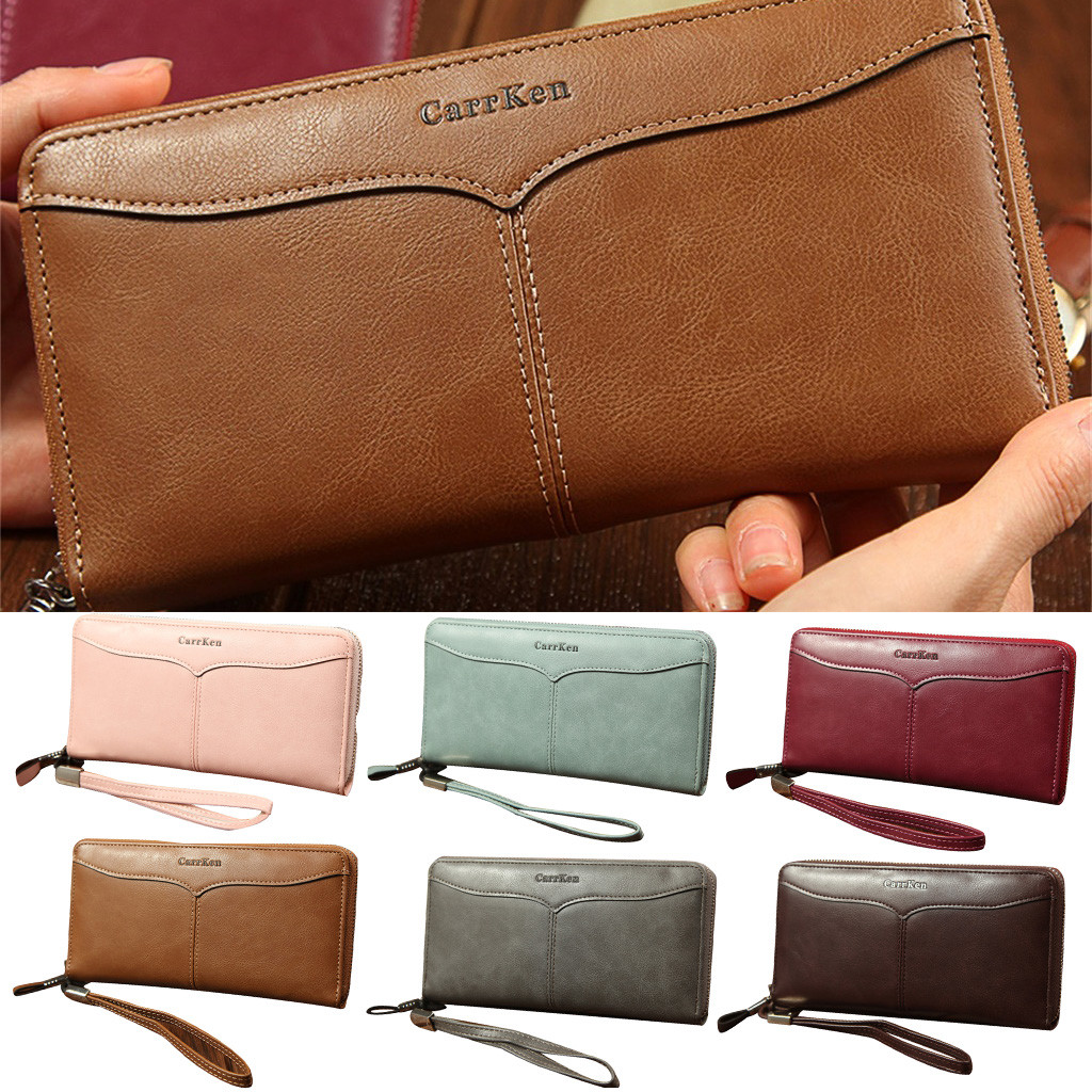 Wallet Clutch-Bag-Card Multi-Card-Holder Men Fashion High-Quality Long Package Casual
