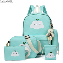 купить Canvas Women School Backpacks College School Bags for Teenager Girls Lovely Female School Bag Travel Backpacks дешево