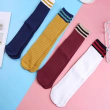 2019 New Autumn And Winter Tube Korean Version Of The College Wind Personality Cotton Socks Korea Wild Pile Of Socks Women Socks new pile of socks in the tube socks cotton two bar autumn and winter double needle socks no heel factory wholesale a generation