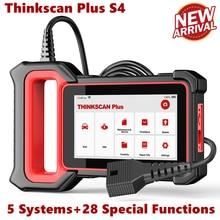 THINKCAR – Thinkscan Plus S4 Scanner de moteur, outils de Diagnostic, TPMS, huile, DPF, ABS, réinitialisation ABS, SRS, ECM, TCM, système BCM, OBD2