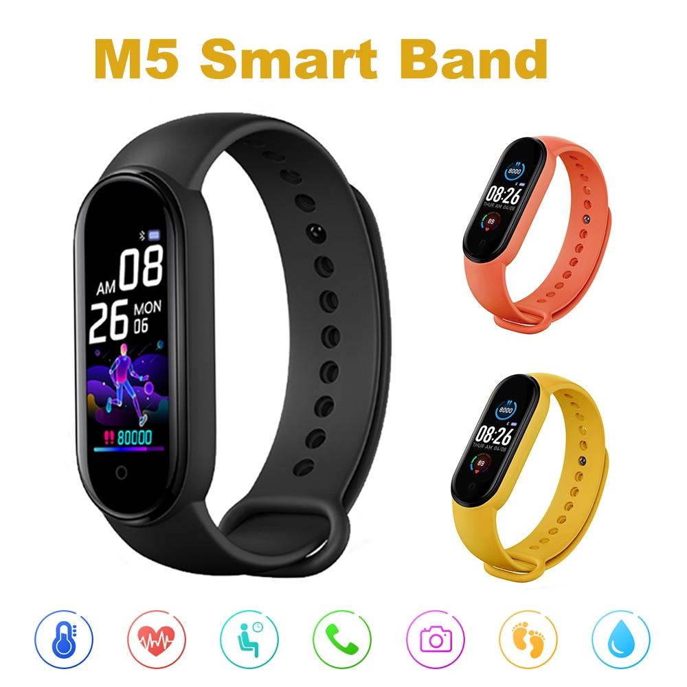 Smarth M5 relógio Do Esporte Da Aptidão Rastreador Pedômetro Freqüência Cardíaca Bluetooth Monitor de Pressão Arterial M5 Banda Inteligente Pulseira Das Mulheres Dos Homens