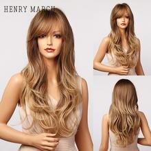 Генри margu длинные волнистые синтетические парики с челкой