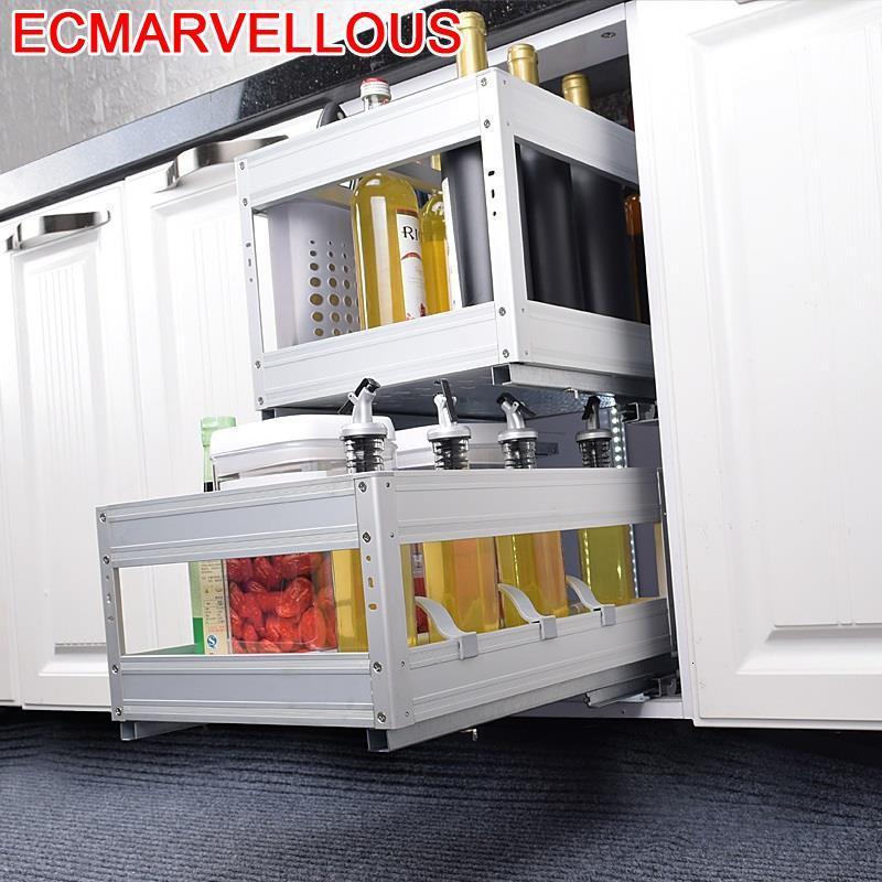 Cestas Corredera Accesorios Organizar Para Armario Cupboard Organizador Cocina Organizer Cuisine Kitchen Cabinet Storage Basket