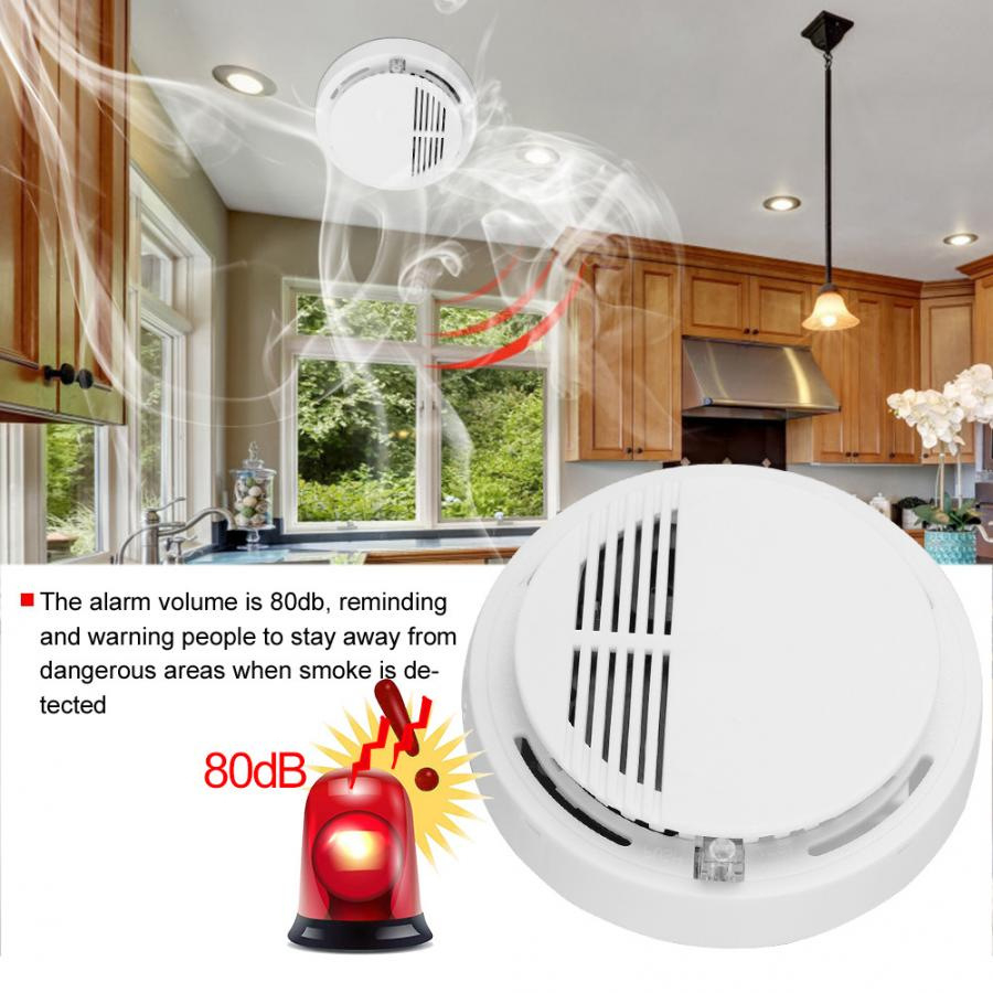 Smoke-Detector Fire-Alarm Wireless Photoelectric Independent Fumo Sensibile Rivelatore