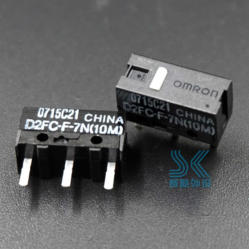 50m 5x OMRON Mouse Micro Swtich D2FC-F-K Blue Dot Mouse Button Hot cbHV