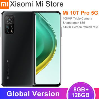 "Global Version Xiaomi Mi 10T Pro 8GB RAM 128GB ROM Smartphone Snapdragon 865 Octa Core 144Hz 108MP Camera 6.67"" DotDisplay"