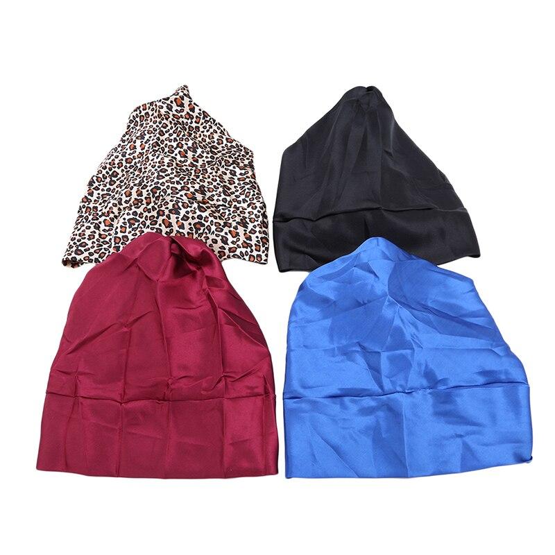 Satin Womens Hijab Chemo Hat Turban Head Scarves Hair Loss Headwear Bandana Band Bow Scarf Cancer Caps Beanie Cover Fashion