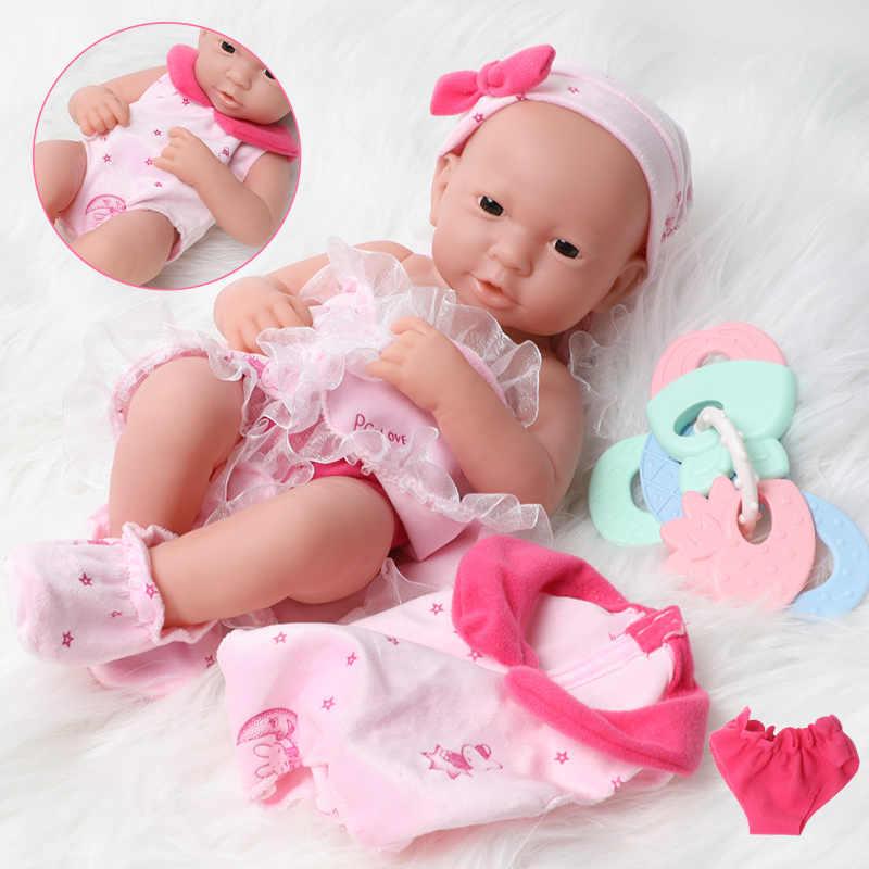 33 ซม.สมจริงBebe Rebornตุ๊กตากันน้ำเหมือนจริง 16 นิ้วFull Body Softซิลิโคนตุ๊กตาทารกน่ารักทารกแรกเกิดตุ๊กตาเสื้อผ้าสำหรับของเล่นเด็ก