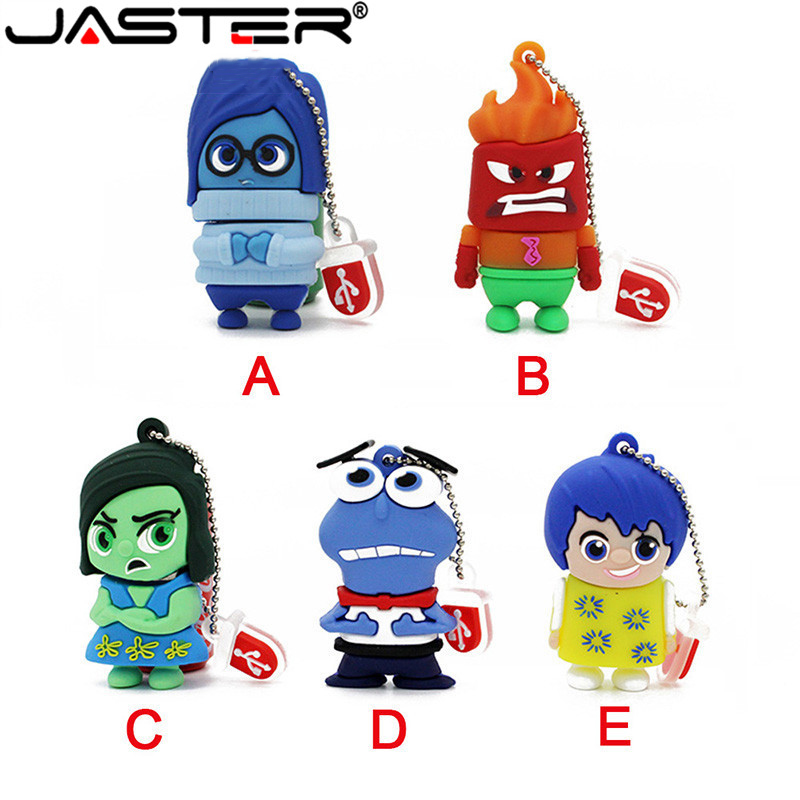 JASTER New Arrival Cartoon Inside Out Usb Flash Drive Pen Drive Pendrive 8gb 16gb 32gb 64gb Flash Card Memory Stick Drives