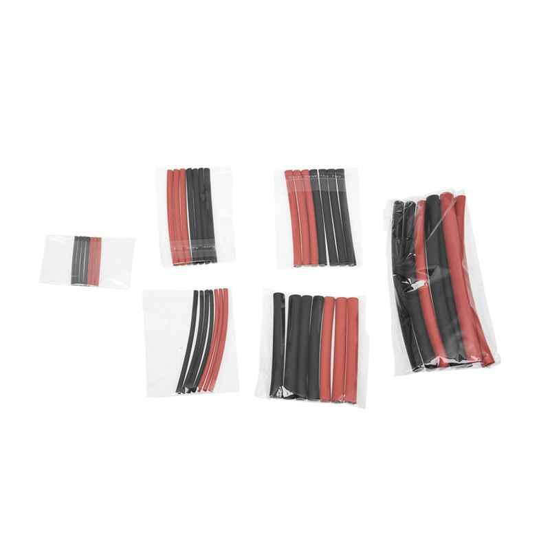 Offre spéciale ensemble de 42 pièces assortiment tube rétractable universel noir, rouge