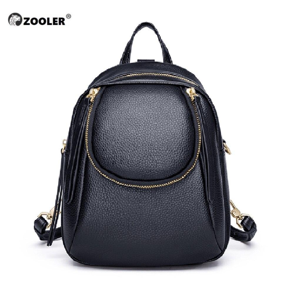 Bagaj ve Çantalar'ten Sırt Çantaları'de Hakiki deri sırt çantaları kadınlar lüks yumuşak gerçek inek deri sırt çantası kızlar siyah moda sırt çantası kadın tasarımcı sırt çantası # ql201'da  Grup 1