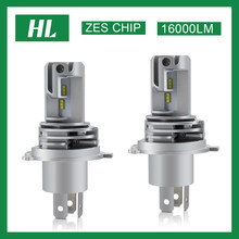 /Hl H4 Led Koplamp Lampen Voor Auto H11 H1 H7 Led H7 Grootlicht/Dimlicht HB3 HB4 16000LM 6500K 12V H7 Led H4 Koplamp Mistlampen