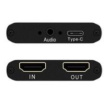 Карта видеозахвата с HDMI на USB 2,0 типа C Full HD UVC, карта воспроизведения для прямой трансляции, поддержка vMix OBS Studio