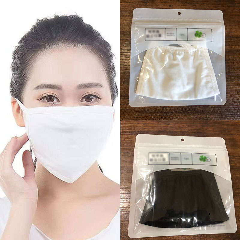 1Pcs Breathable Black Kpop Mouth Mask Unisex Cotton Face Mask Reusable Anti Pollution Virus Face Shield Wind Proof Mouth Cover