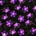 Вишня в цвету цветок Гирлянда Батарея приведенный в действие на открытом воздухе светодиодная гирлянда с кристаллами и цветами для комнатн...