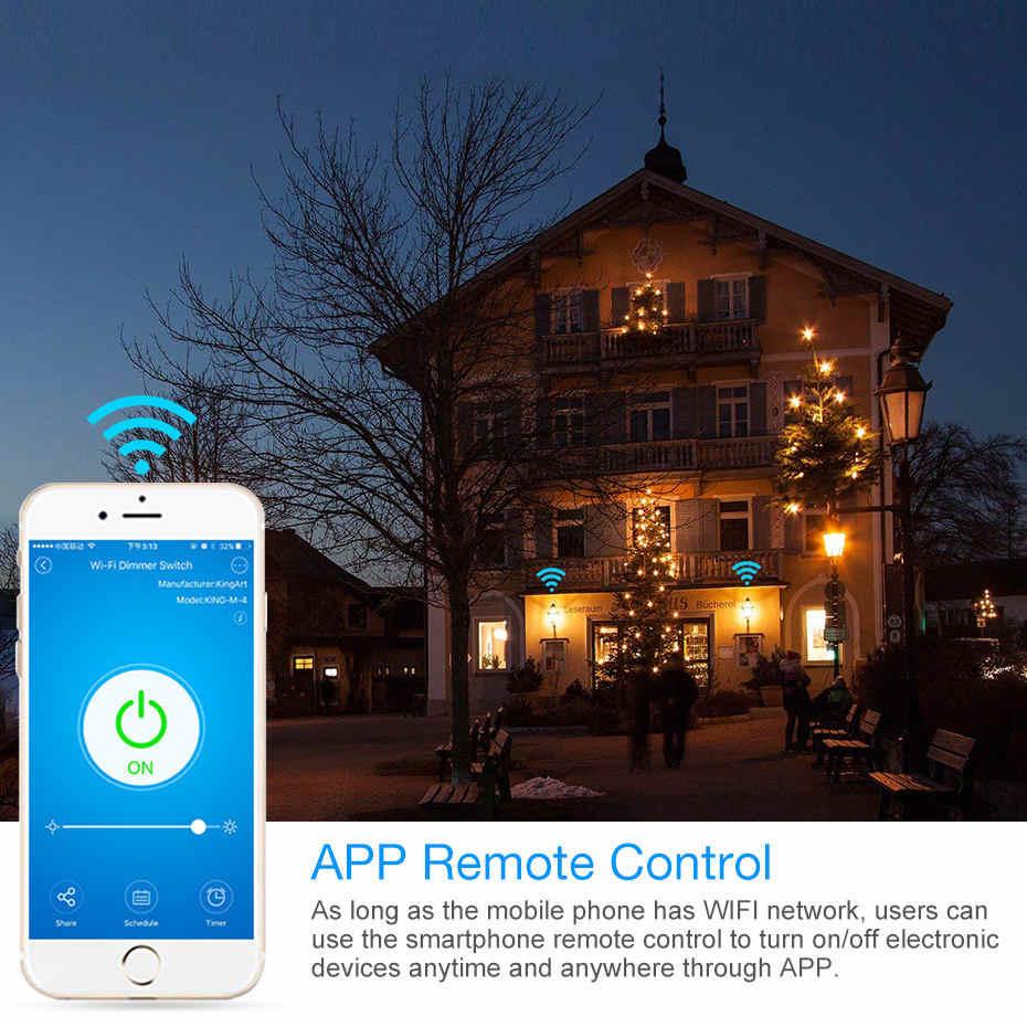 Akses Internet Nirkabel Dimmer Switch Smart Light Touch Switch Peredupan Kompatibel dengan Amazon Alexa Google Home Dimmable 110V 220V Kita standar Uni Eropa