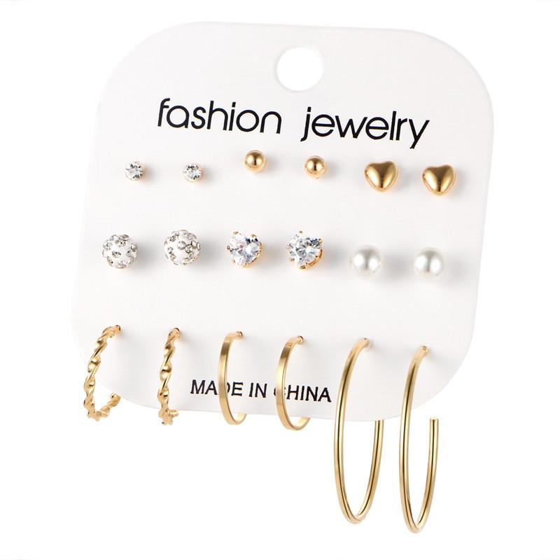 17 км акриловые серьги с кисточками для женщин, богемные серьги, набор больших геометрических висячих сережек Brincos, Женские Ювелирные изделия DIY - Окраска металла: Earrings Set 17