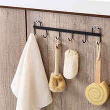 Punch-Free Wall Hanger Hook Bathroom Tools Organizer Towel Holder Key Hooks Kitchen Organizer Cupboard Storage Rack Shelf cheap 32 5*6 5cm