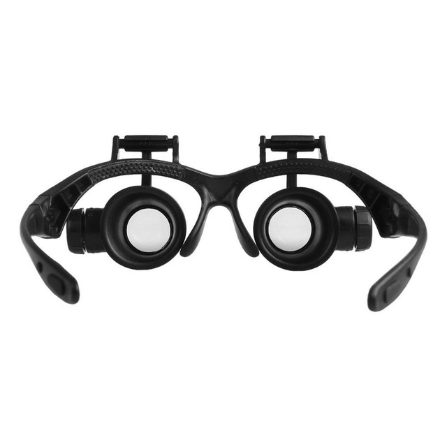 8 Lens Magnifier Magnifying Eye Glass Loupe Jeweler Watch Repair with LED Light TUE88 3