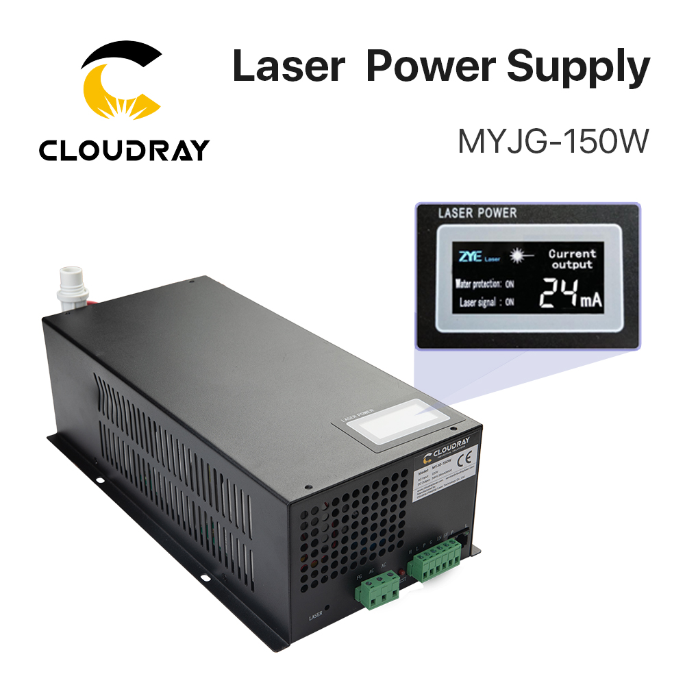 Alimentatore laser CO2 Cloudray 130-150W per tagliatrice per incisione laser CO2 categoria MYJG-150W