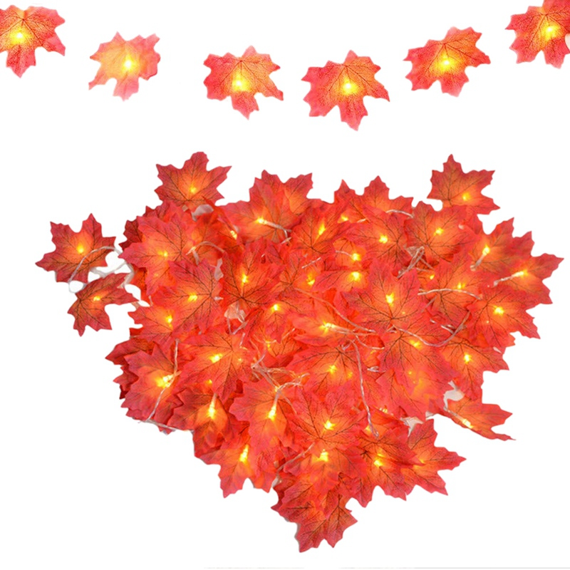 Maple Leaf LED Lights For Room, Outdoor String Lights Fall Decorations For Home, Festival Decorations Fairy Lights Battery Opera