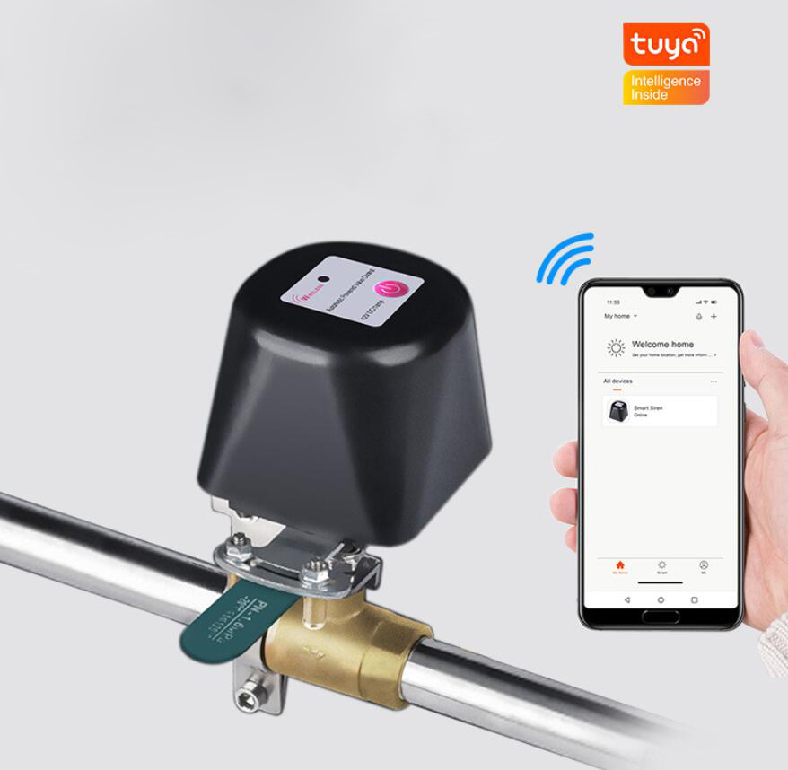 Tuya Smart WIFI Gas Valve Smart  Homewireless Control Water Valve Supports Alexa Voice Control