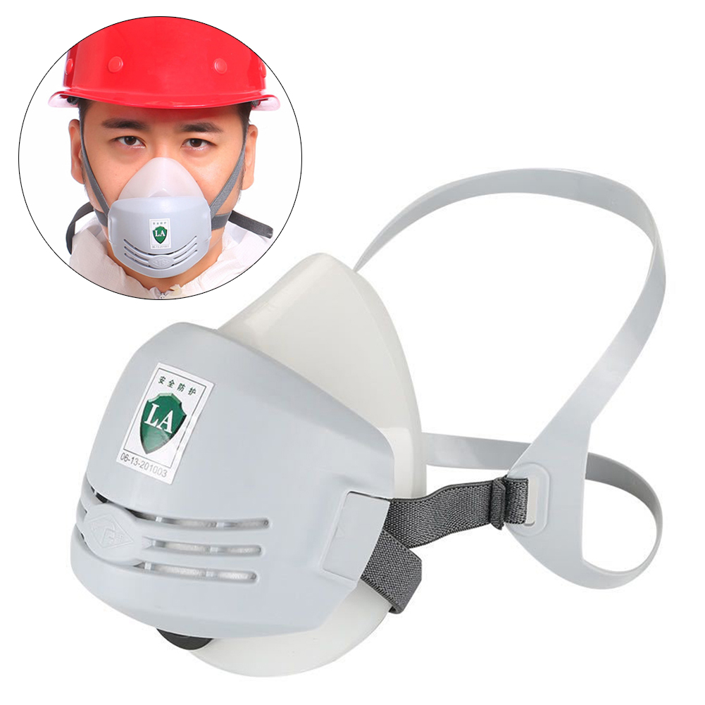 Dust Proof PM2.5 Mask Respirator Industrial Protective Silicone Mask 20 Pcs Cotton Mask Filter Paper Filter