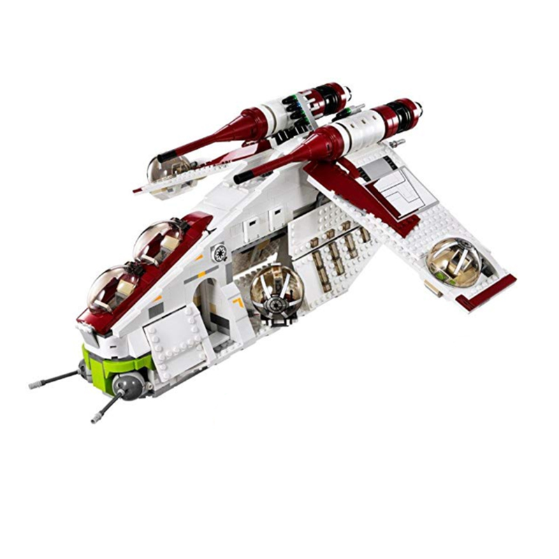 <font><b>Star</b></font> <font><b>Wars</b></font> Republic Gunship Building Block Kit Set Blocks Toys with Figures <font><b>05041</b></font> 75021 image