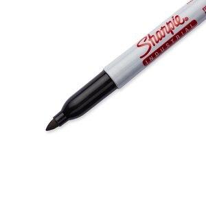 Image 4 - 12 Unids/lote 1mm Sharpie Marcadores Industriales y Permanentes de Tinta Negra No Se Descolora Hasta Calor 500F Se Seca Rápido