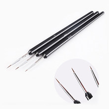 2019 Hot Sale Pratical Cute 3Pcs Nail Art Liner Brush Ultra-thin Line Drawing Pen Manicure Painting Tool Nail Art Decoration(China)