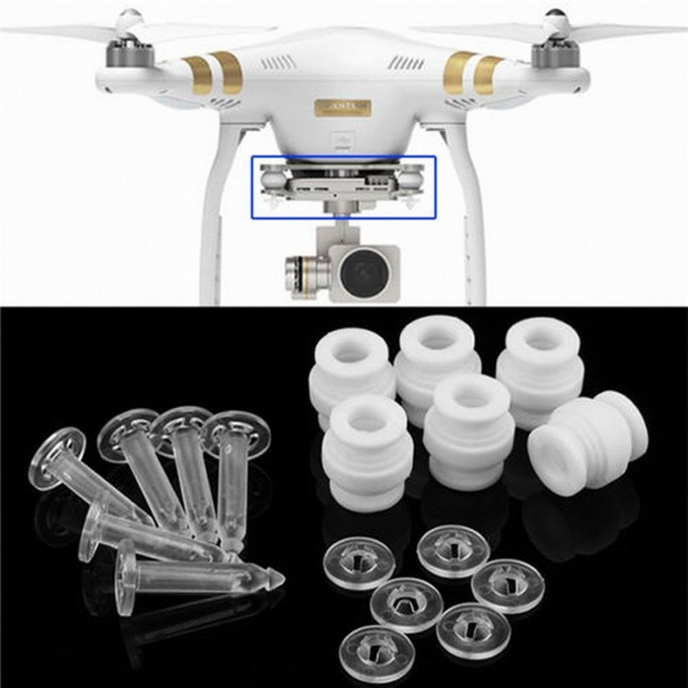 Camera Gimbal Shock Absorption Damping Rubber Balls & Anti-drop Pins Kit For DJI Phantom 3 Standard Professional Advanced