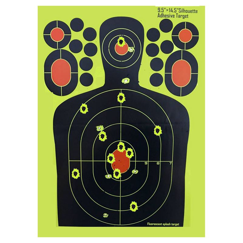 Hot HG-10PACK Realistic 9.5x12.5 Inches Targets For Shooting Paster Sticker Paper,roll Packaged Not Folded