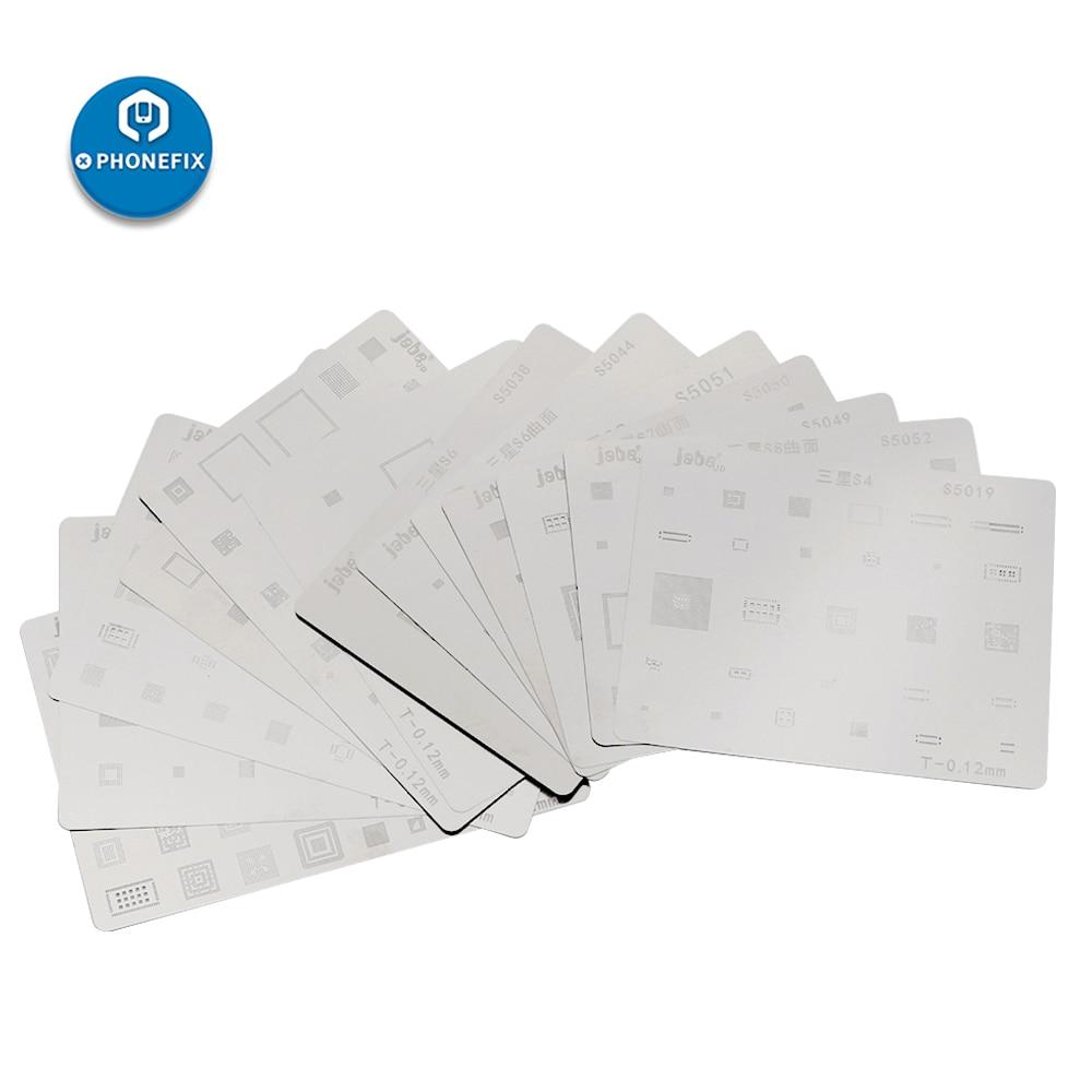 PHONEFIX IC Chip BGA Reballing Stencil Kit Solder Template For Samsung S6 S7 S8 Note Series PCB Motherboard Repair