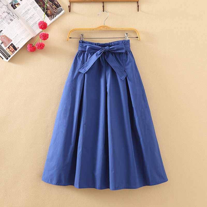 2018 New Fall Ins Super Hot Skirt Fashion Skirt Long Skirt High Waist Strap Large A-line Skirt Female Trend