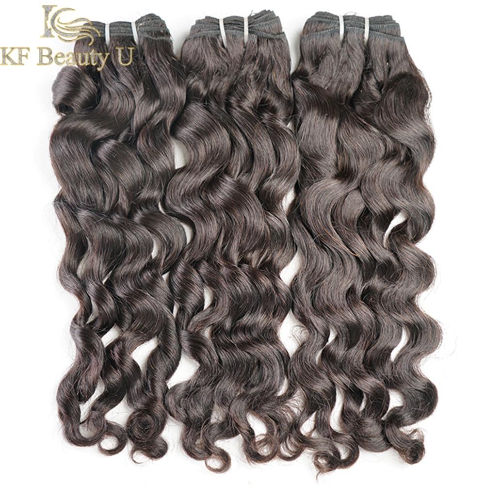 Fasci da 30 pollici 1/3/4 Pcs fasci di onde naturali estensioni dei capelli umani brasiliani Non Remy per donne nere colore nero naturale