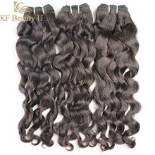 Mèches brésiliennes naturelles Non Remy, ondulées, couleur noire naturelle, 30 pouces, Extensions de cheveux, lot de 1/3/4