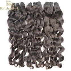 30 polegadas pacotes 1/3/4 pçs onda natural pacotes extensões do cabelo humano brasileiro não remy para preto cor preta natural