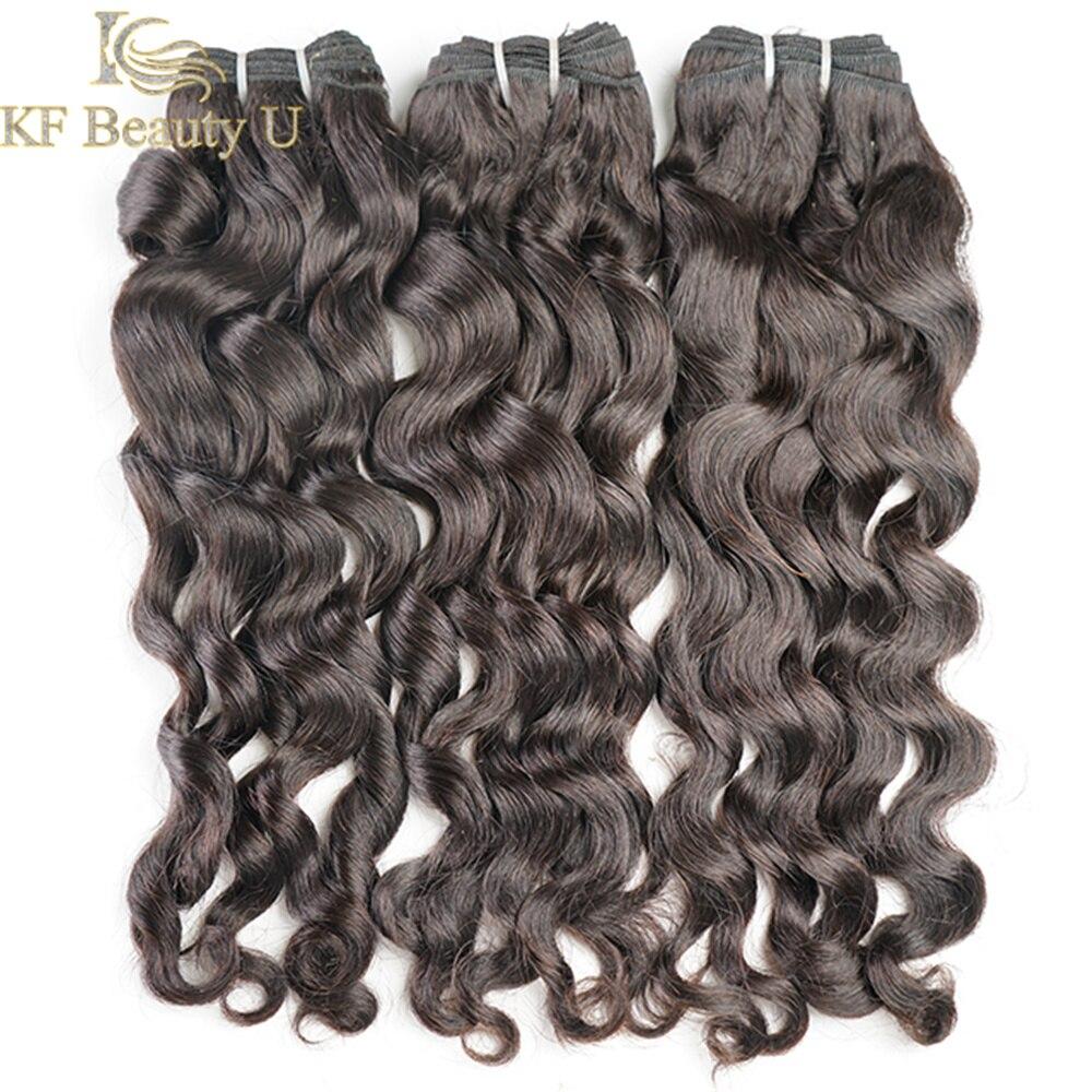 30 дюймов Пряди человеческих волос для наращивания натуральные волнистые пряди бразильских волосы Remy для черный Для женщин натуральные чер...