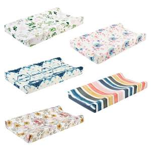 Cover Diaper Change-Table-Sheet Changing-Pad Baby Infant Bed Fitted Floral-Print Nursery