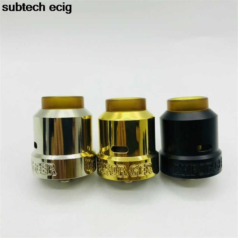 High Quality Enforcer Cap RDA Rebuildable Atomizer Tank 25mm Wide Bore PEI Drip Tip For E Cigarette Box Mod 510 Mech Mod