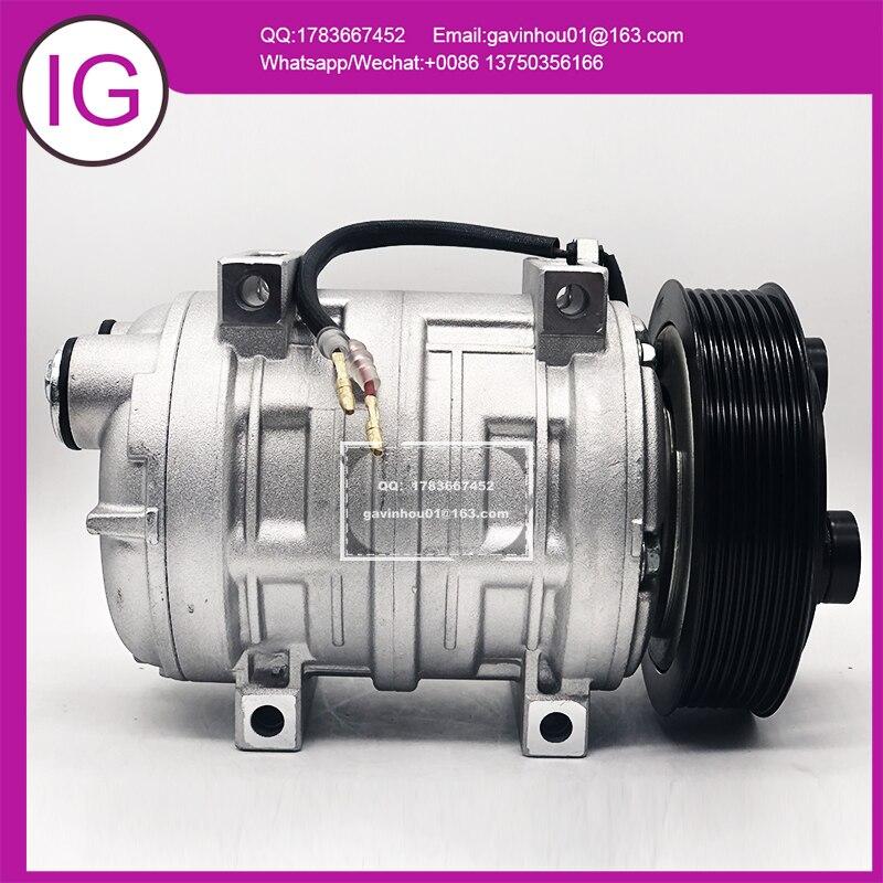 Compresor para aire acondicionado, autobús, autobús, camión comercial, TM-21, TM21, DKS22, Bus 48847244, 43547244, 2521562, 8pk