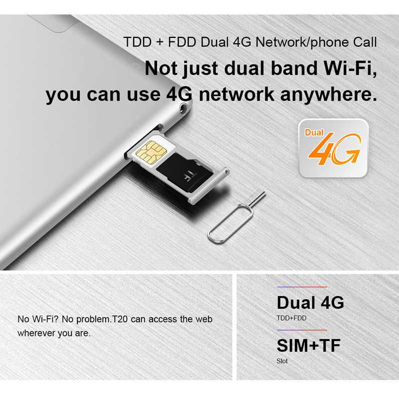 تابلت تكلاست T20 أندرويد 10.1 بوصة نتبووك 2560*1600 فابلت مكالمة هاتفية MT6797 هيليو X27 ديكا كور 4G RAM 64GB ROM 8100mAh