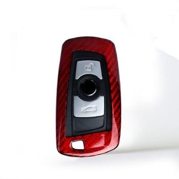 True Carbon Fiber Car Key Case Cover For Bmw 1357 Series X1 X3 X4 X5 X6 M3 M5 Z4 F20 F30 F10 E90 E60 E30 Car key shell Protector