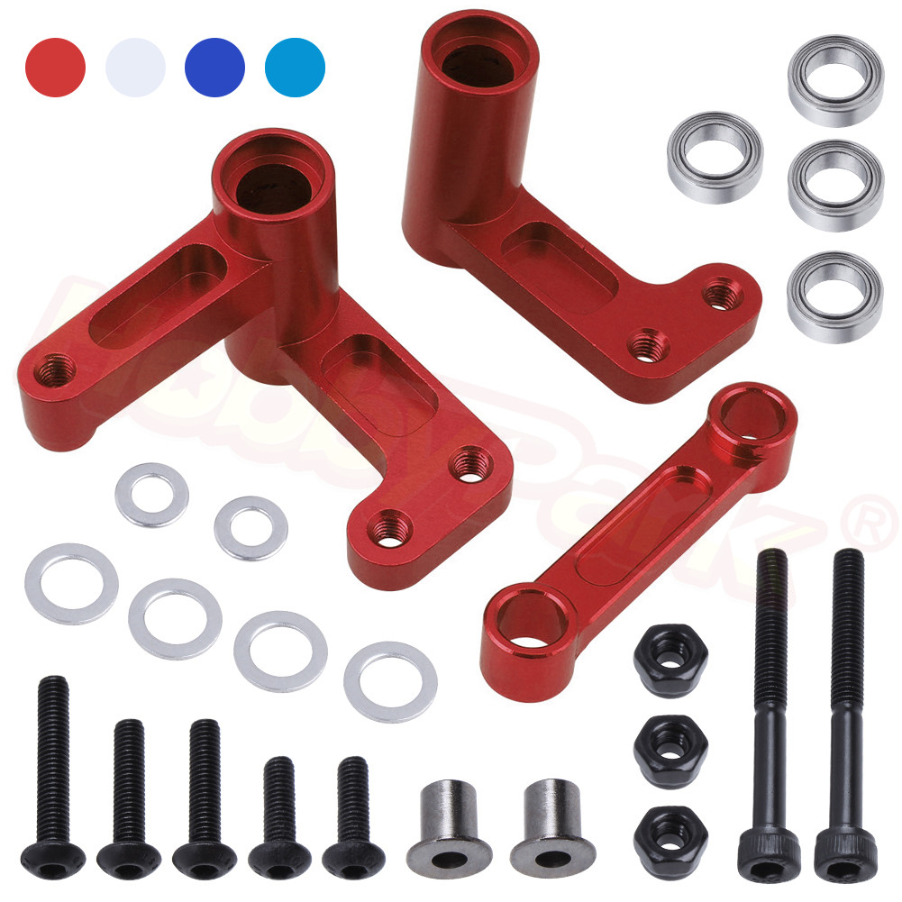 Aluminum Steering Bellcranks and Drag Link 3743 for 1/10 Traxxas Slash 2WD Short Course / Rustler VXL Upgrade Parts(China)