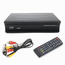 Satelliet TV Ontvanger Tuner Full HD 1080P Tuner Gratis Digitale TV Box Ondersteuning H.265 AC3 DVB-T2 HD TV Box EU Plug Nieuwe(China)